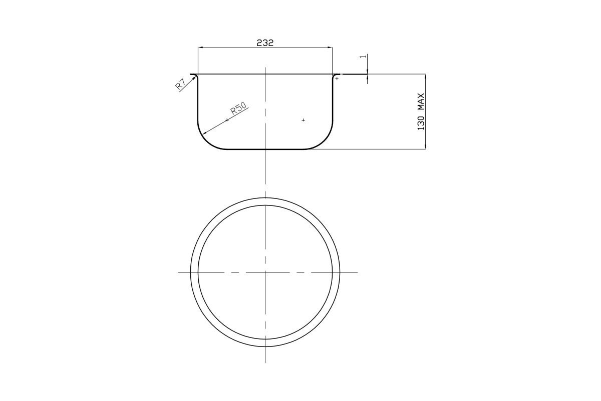 Vaschetta cilindrica 232